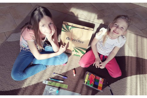 HUNGARIAN CHILDREN ENJOYED PLAYING AT HOME WITH FLEXOFFICE PRODUCTS DURING THE SCHOOL LOCKDOWN