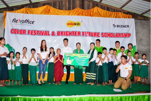 FLEXOFFICE MYANMAR ORGANIZED THE FIRST COLOR FESTIVAL IN MYANMAR